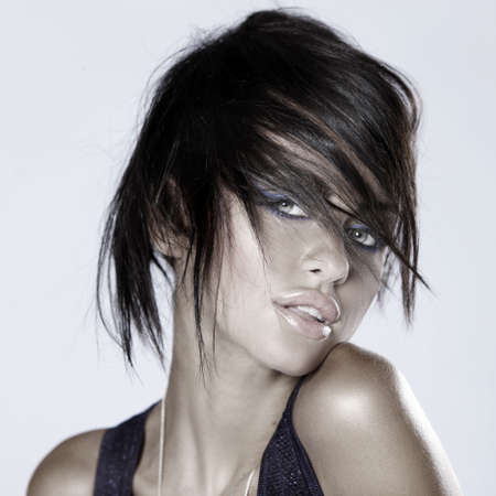 Portrait of beautiful and sexy fashion woman photo