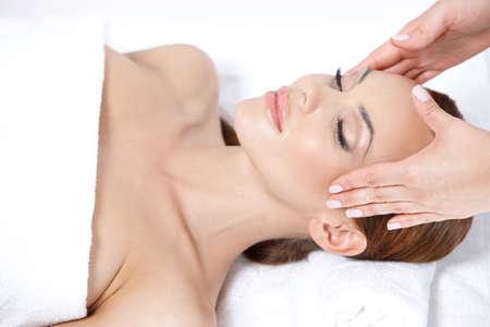 sensual massage: Lying on spa bed