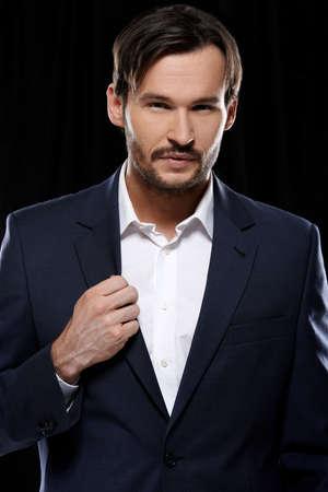 Portrait of a fancy young elegant Caucasian beard man Stock Photo - 17221043