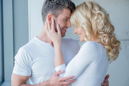 20 24: Loving couple enjoy a tender moment