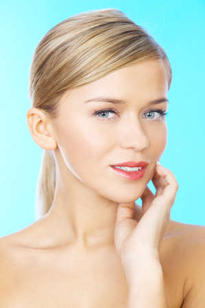 clear skin: Attractive woman with a thoughtful expression