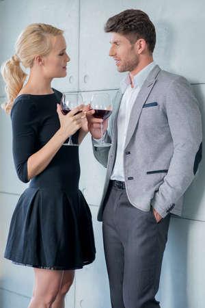 romantic date: Young couple enjoying a romantic date
