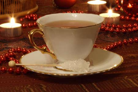 Still Life With Candles, Balls, Tea and Sugar Stock Photo - 5865168