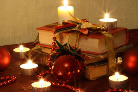 Still Life With Candles, Balls and Books Stock Photo - 5865167