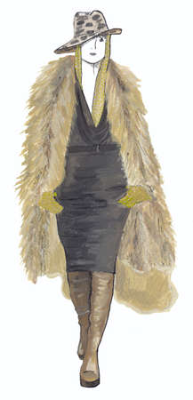The girl in fur coat photo