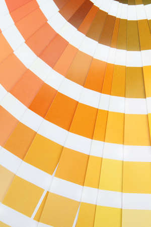 Pantone sample yellow colors catalogue photo