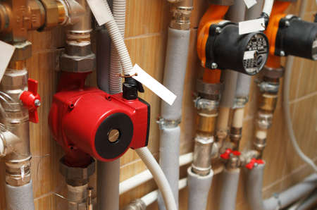 Heating system of the house. Close up Stock Photo - 7946318