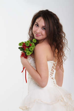 Portrait of the smiling bride in wedding dress Stock Photo - 8212621