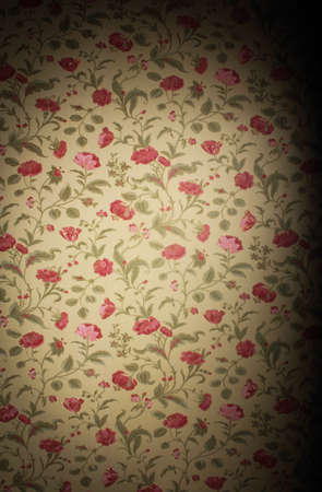 Vintage floral background with wallpaper patterns of roses photo