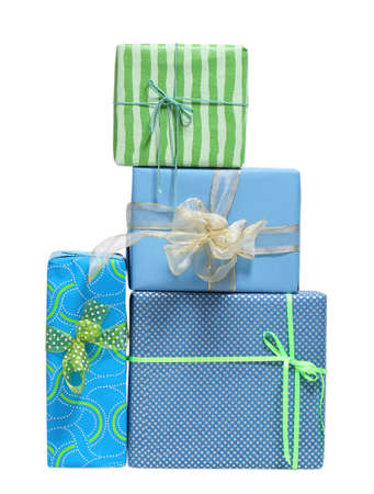 boxs: Boxs tied with a ribbon bow. A gift for Christmas, Birthday, Wedding, or Valentines day. Isolated on white
