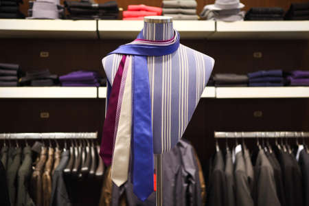 Ties on the mannequin in shop for men  photo