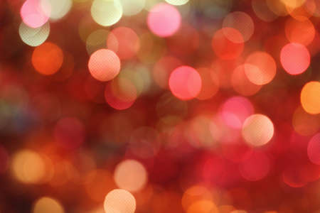 Red and orange holiday bokeh. Abstract Christmas background Stock Photo - 15167118