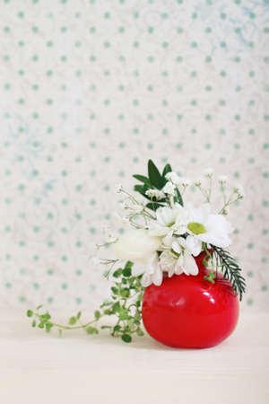 red polka dots: Ramo de flores de invierno en clave alta