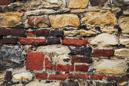 Background of stone and brick wall texture Stock Photo - 17451331