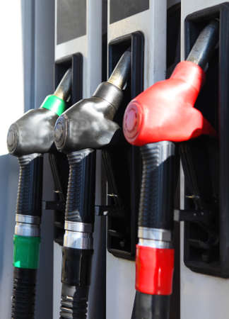 Hoses in a service station. Close up Stock Photo - 17498815