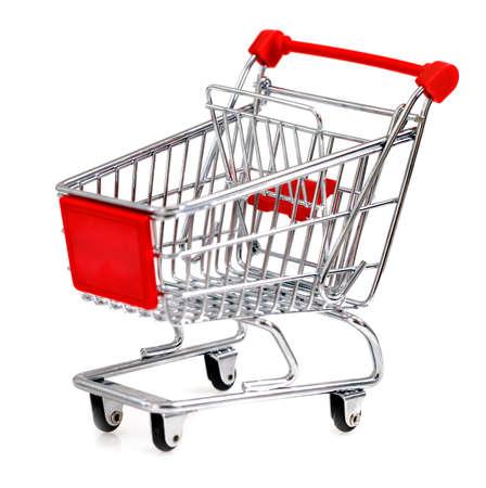 Empty shopping cart isolated on white. Close up Stock Photo - 17604069