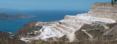 plaster of paris: Beautiful  plaster of paris quarry (chalk mine) panorama of Crete, Greece