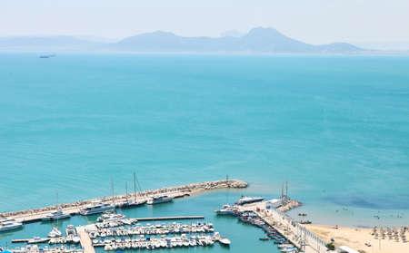 sidi bou said: Sidi Bou Said. La Gulett, Tunisia. Port Tunisia