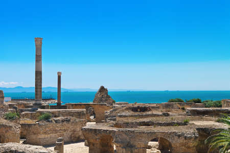 past civilizations: Ruins of Antonine Baths at Carthage, Tunisia