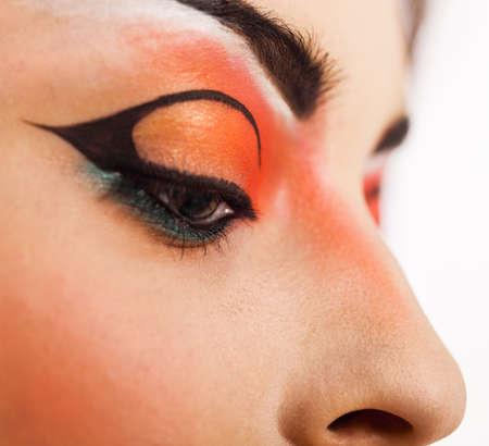 beaux yeux: Maquillage pour les yeux. Beaux yeux brillent maquillage. Location d�tail de maquillage