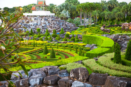 botanical garden: Nong Nooch Tropical Botanical Garden, details, Pattaya, Thailand Stock Photo
