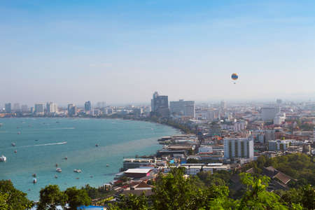 thailand view: Pattaya beach view. Thailand. View from the top