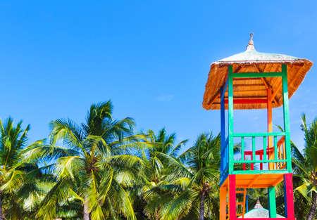 Open lifeguard tower on the beach, Nha Trang, Vietnam Stock Photo
