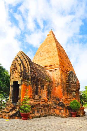 linga: Po Ngar Cham Towers in Nha Trang, Vietnam. Hindu holy temple