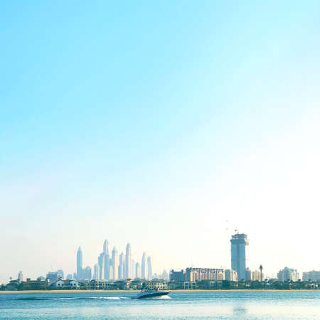 The beauty panorama of Dubai city. UAE Фото со стока