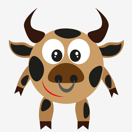 aggression: bull, farm animal  ranch, aggression, mascot, taurus, comic, shape, fight Illustration