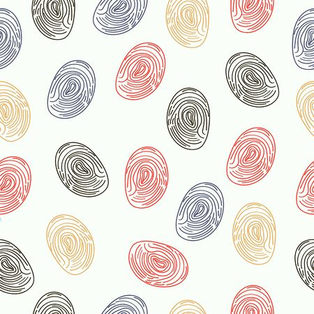identifying: pattern fingerprints dactyloscopy white, background, people, black, macro, system, individuality, swirl Illustration