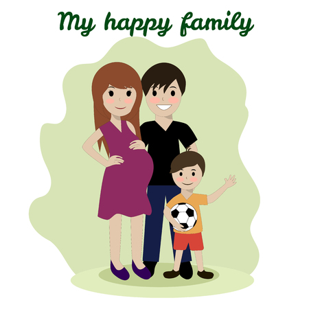 spouse: Happy family, friendship adoptive parents husband, group, female, silhouette, cute, man, outdoor, spouse, dad, play Illustration