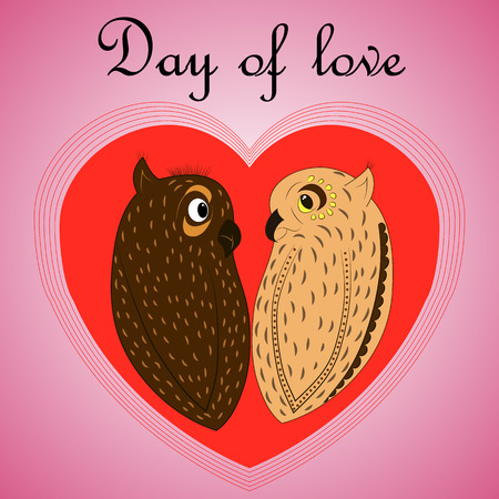 recognized: owl lovers on Valentines Day red heart recognized holiday