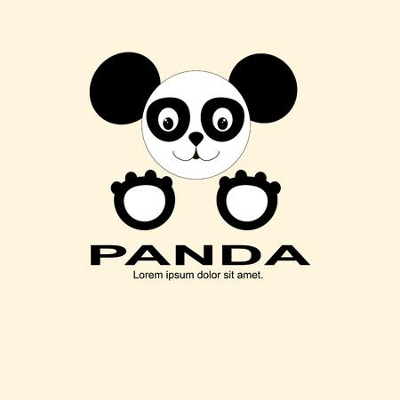 noir panda et logo blanc assez drôle regarde les chiffres simples