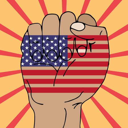 nation: set the US flag bright country nation patriot Illustration