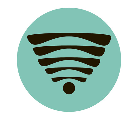 wi fi icon: Wi fi icon sign for web site silhouette wire flat web Illustration