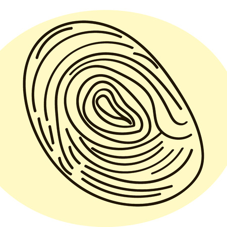 identification: Fingerprint human. Personal identification. Stock vector image.