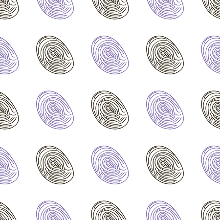 identifying: pattern fingerprints dactyloscopy Vector icon of human finger print