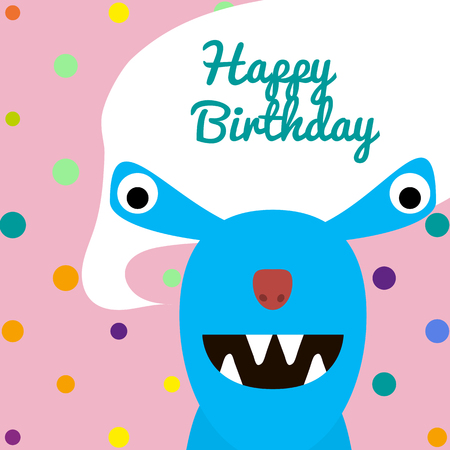 monster party card design. vector illustration holiday