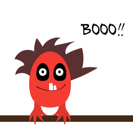 Cute monster vector illustration children painted different Illustration