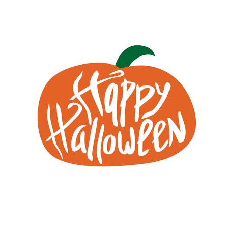 Inscriptie. Fijne Halloween. Viering. De dag van de Doden. Belettering. Voor uw ontwerp.