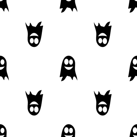 haunt: Ghost. Seamless pattern. Halloween. All Saints Day. Frighten. For your design