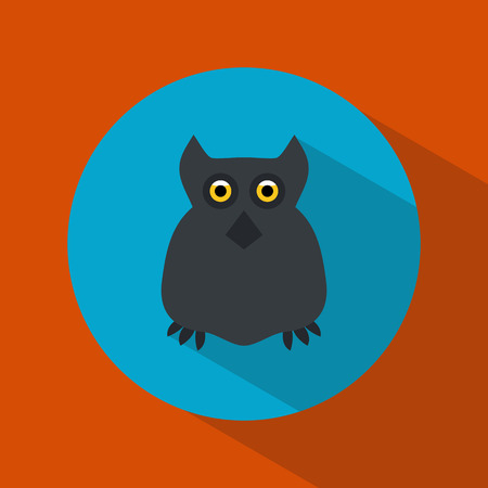all saints day: Owl. Icon. Halloween. All Saints Day. Frighten. Night-bird. For your design Illustration
