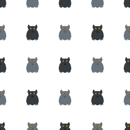 all saints day: Owl. Seamless pattern. Halloween. All Saints Day. Frighten. Night-bird. For your design