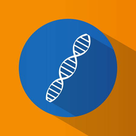 heredity: Icon. DNA code. Heredity. The science. Genetics. Bright. Flat design. For your use
