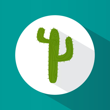 Icon. Cactus. Plant. Desert. Green. Bright. Flat design. For your use