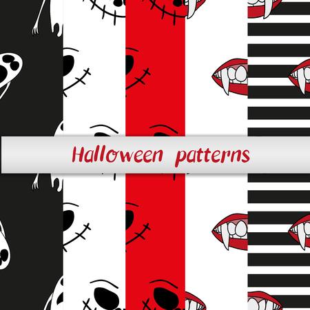 Diez De Halloween Diferentes Patrones Sin Fisuras. La Textura ...