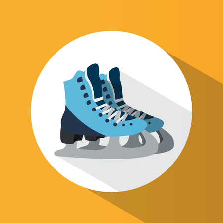 Winter sport. Skates. Ice skating. Healthy lifestyle. Icon. For your design Illustration