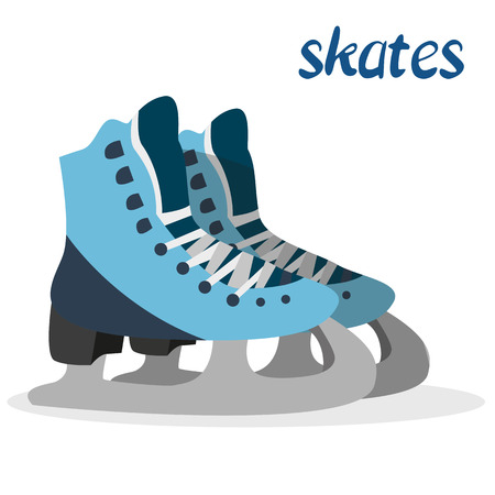 figureskating: Winter sport. Skates. Ice skating. Healthy lifestyle. Icon. For your design Illustration
