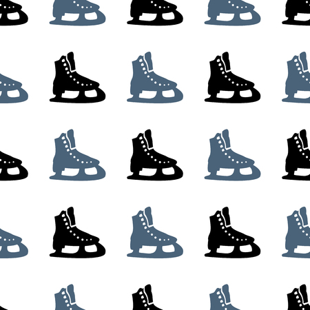 figureskating: Winter sport. Skates. Seamless pattern. Ice skating. Healthy lifestyle. Icon. For your design